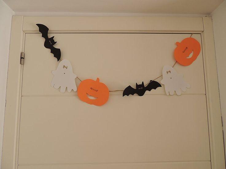 Guirnalda de #Halloween con goma Eva paso a paso #ManualidadInfantil #diy #handmade #decoracion