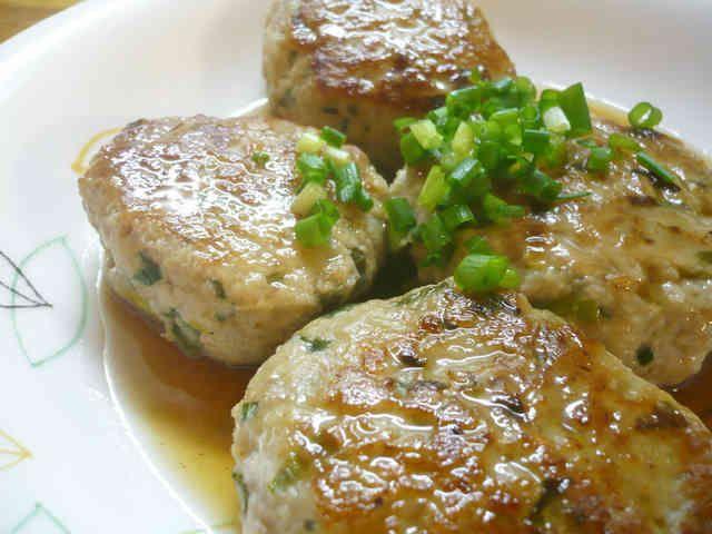 かる~い食感♪れんこんと豚肉のハンバーグの画像