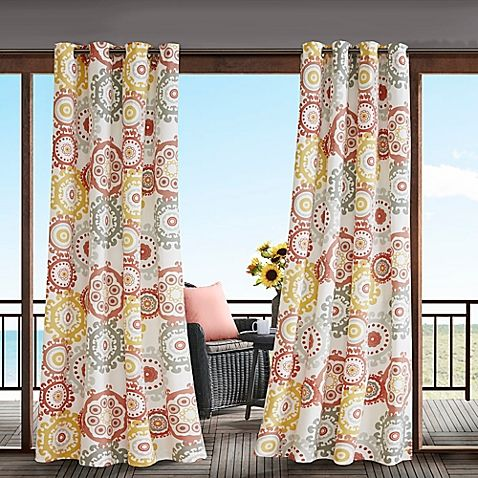 Madison Park Laguna 3M Scotchgard™ Grommet Top Outdoor Curtain Panel