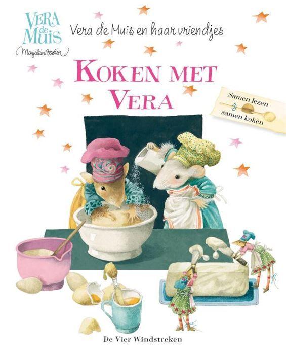 Koken met Vera  Vera de Muis is dol op koken. Zo maakt ze de lekkerste havermoutkoekjes en heel grappige gerechten zoals kamelenpoep (gesmolten chocolade met cornflakes rozijnen en kokos). Haar vriendjes proeven graag alle lekkere dingen die ze maakt. Zelf maken ze ook wel eens iets. Een heerlijke Bastognecake bijvoorbeeld of een frisse frambozen-yoghurtshake. De recepten hiervoor vind je in dit kookboek. In verhaalvorm is beschreven hoe je het kunt klaarmaken dus is het ook nog eens een…