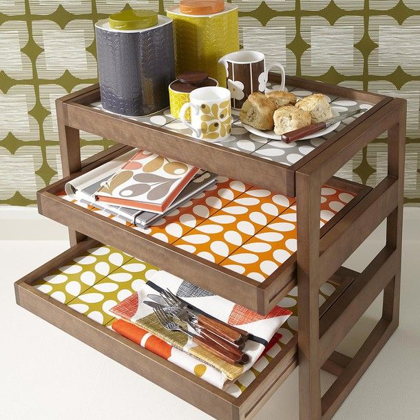 #Orla_Kiely Kitchen Organizer and Tea Towels
