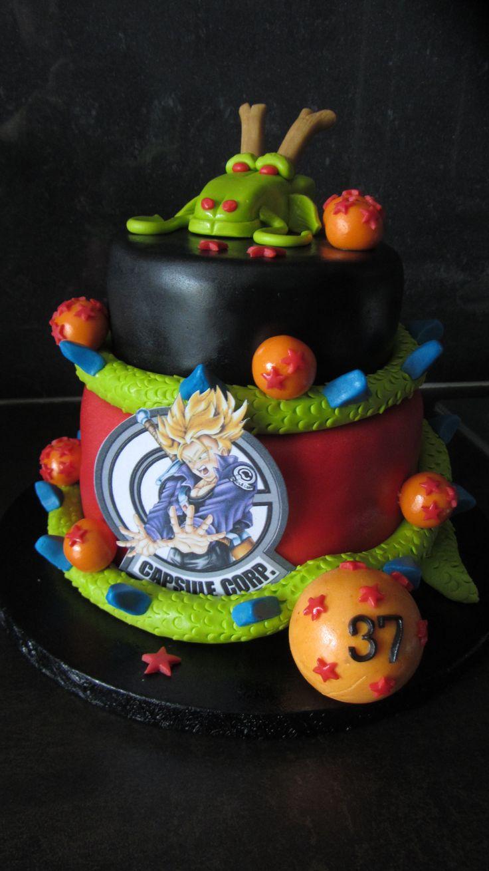 Gâteau pâte à sucre thème Dragon Ball Juillet 2014