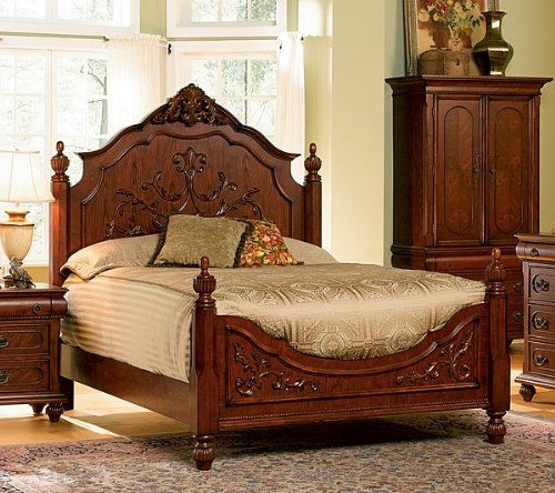 Isabella Bedroom Collection Solid Hardwood Queen Size Bed