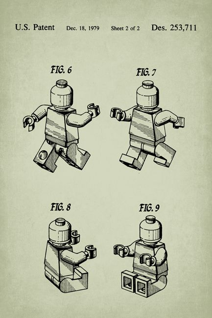 Keep Calm Collection - Lego Figure Patent Art Poster Print (http://www.keepcalmcollection.com/lego-figure-patent-art-poster-print/)