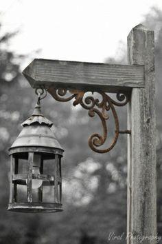 Grey Lantern, Driveway Lamp Posts, Irons, Country Driveway, Garden Lanterns, Rustic Driveway, Wrought Iron, Rustic Lamps, Driveway Signs