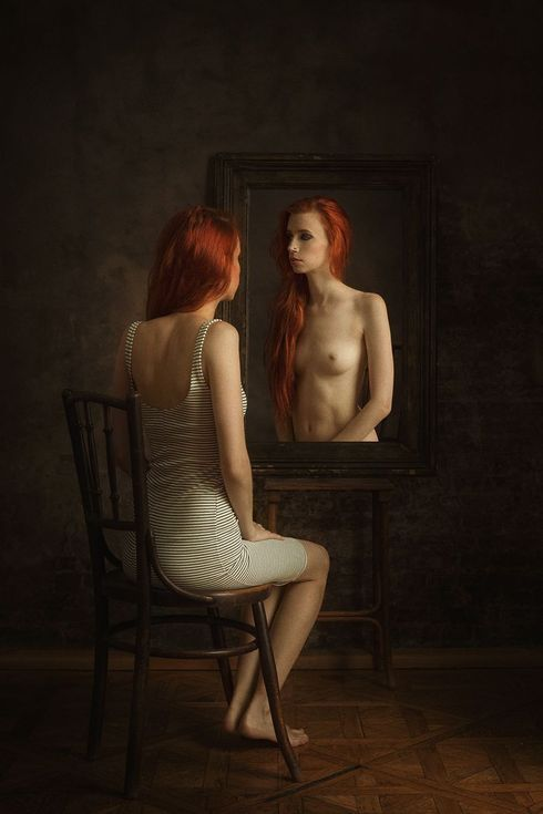 Buy Mirror image - Art Nude, Colour photograph (giclée) by Peter Zelei on Artfinder.