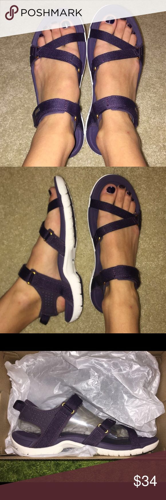 Brand NEW Purple Tevas Brand new ‼️ trendy strapped sandals, great for outdoors and in water! Teva Shoes Sandals