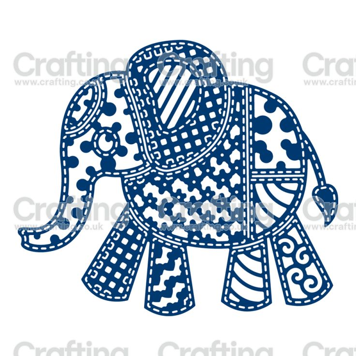 Tattered Lace Dies - Patchwork Elephant
