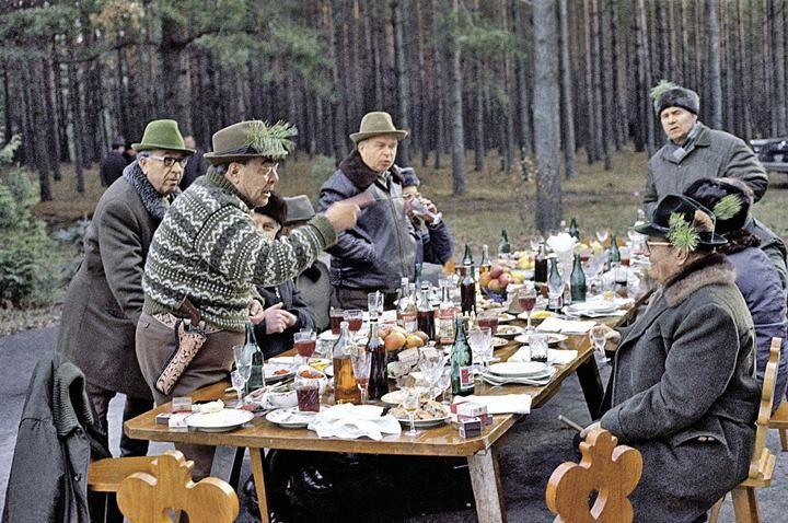Brezhnev and friends in Ukraine, 1975