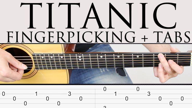 Como tocar Titanic en guitarra facil tutorial punteo Fingerpicking y TAB...
