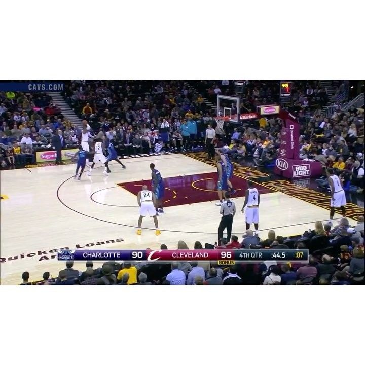 Cavs beat the Hornets today 100-93 and improve to 8-1. LeBron James finished with 19 points 8 rebounds 8 assists and this dagger to seal the game. #dhtk #repre23nt #donthatetheking