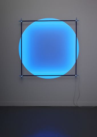 Christian Herdeg, Magic Circle meets Square, 2012 #arte #luce #gradiente…