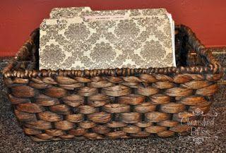 Basket Filing with custom folders - Cherished Bliss