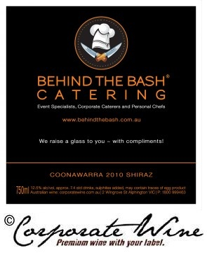 We created this classy wine label design for this catering business.