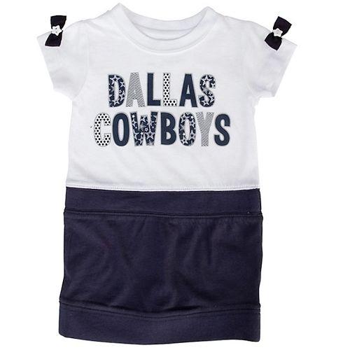 Dallas Cowboys Girls Toddler Ivy Dress - Navy Blue/White