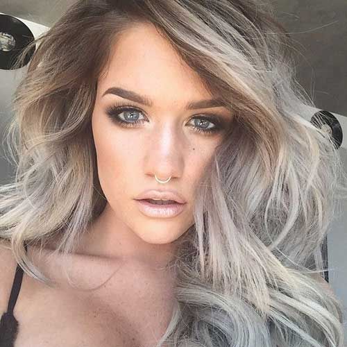 37 best blonde w brown roots images on pinterest hairstyles grey hair is no more to hide blonde grey hair is the hottest trend right now here are lots of ideas to pull it off pmusecretfo Gallery