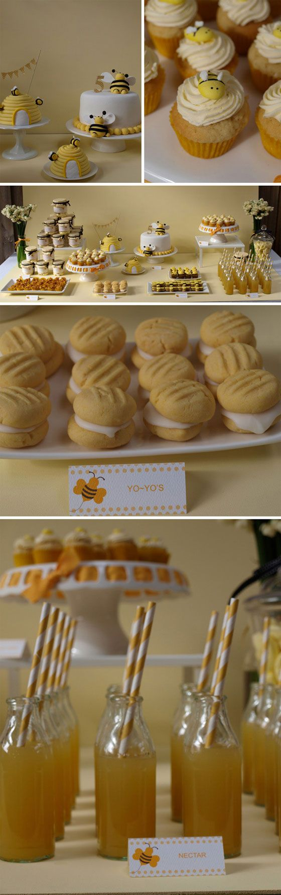 Busy Bee Theme, this would have been so cute at Nathan's second birthday!
