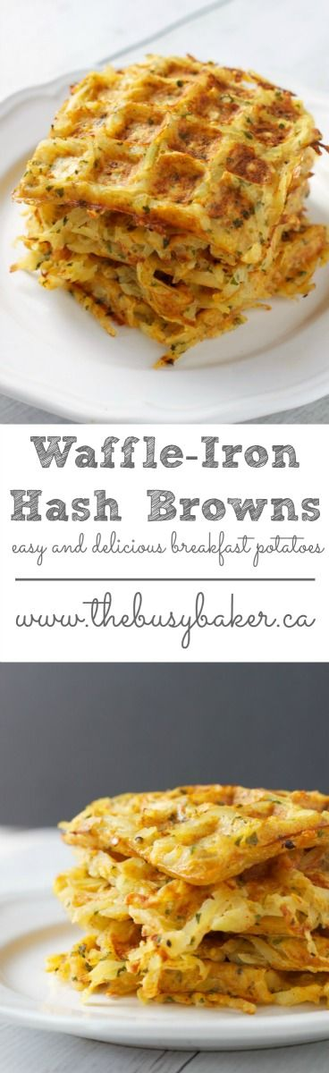 These Waffle Iron Hash Brown Breakfast Potatoes are the perfect easy recipe for your Easter brunch! Recipe from thebusybaker.ca!