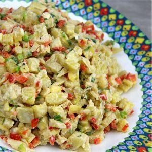 Green Fig Salad Recipe (green banana). CaribbeanPot.com
