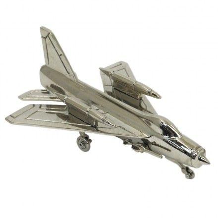 Vliegtuig uitgevoerd in aluminium met nikkel afwerking. www.creamont.nl