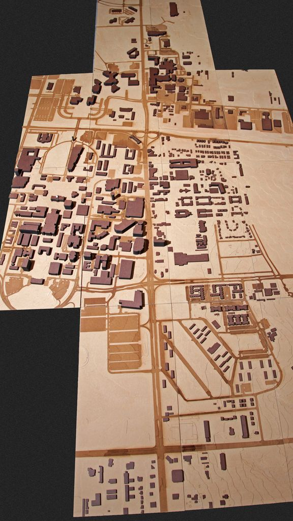 laser cut site model | ... models. The models were cut into physical contours in MDF panels using