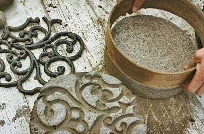 DIY Betonnen stapstenen :))    Concrete stepping stones.