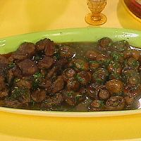 3 Tasty Tapas: Sherry-Garlic Beef, Sherry-Garlic Mushrooms, Grilled Chorizo by Food Network