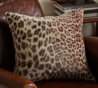 velvet cheetah pillow cover something like this paired with some striped or other printed pillows