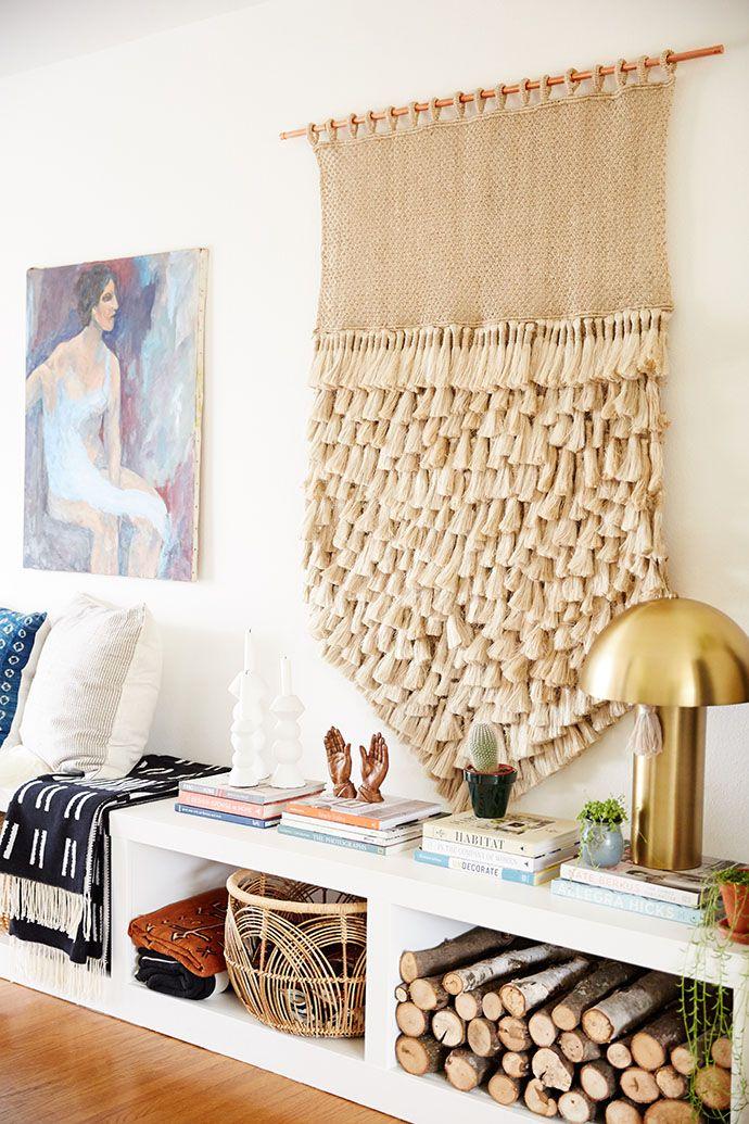Massive woven neutral macrame hanging goals // boho home decor
