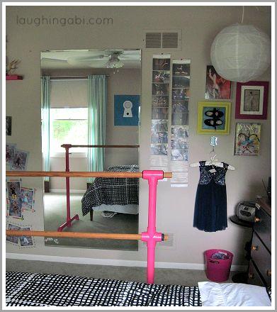 DIY ballet barre and mirror: Phase 2 | laughingabi.com