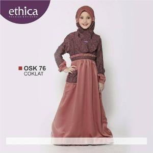 Baju Gamis Anak Ethica OSK 76 Coklat - Ramadhan Sale