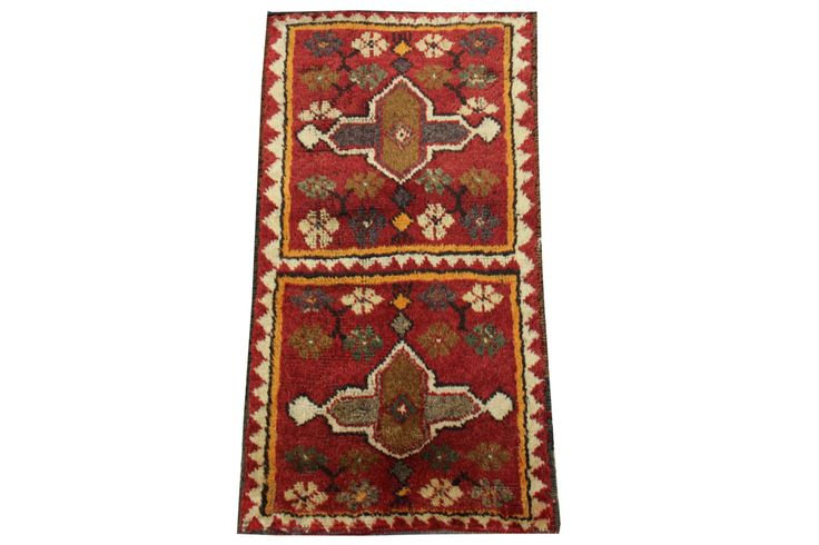 Doormats Turkish rugs handmade 2,8 x 1.5 Feet Bohemian Vintage bathmats Small size rugs Throw Rug Anatolian rug natural dye wool rug HY-48 by stripepattern on Etsy
