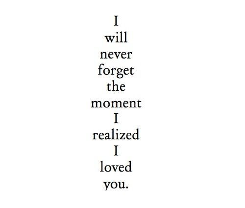 The night I knew I loved you...