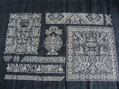 Amager en Marker kruissteekborduurwerk [Amager and Marker cross stitch embroidery]