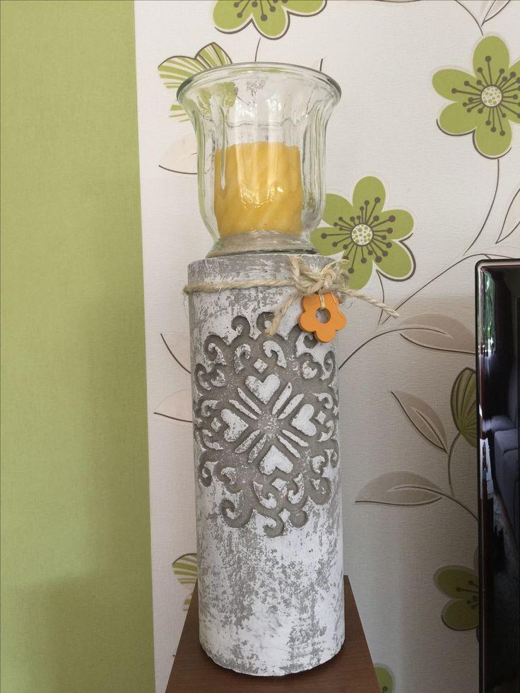 betons ule mit ornament sch ne dekoration f r haus. Black Bedroom Furniture Sets. Home Design Ideas