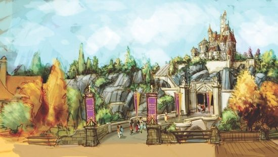 They're adding a whole Beauty and the Beast section to Disney World!!!! I just died.