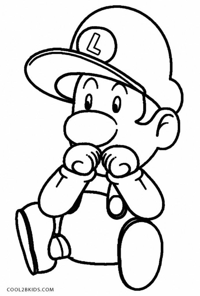 Baby Luigi Coloring Pages Mario Coloring Pages Coloring Pages Inspirational Easy Coloring Pages