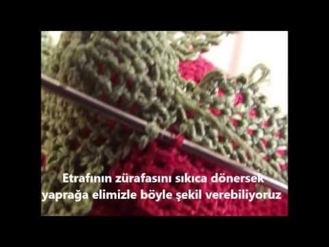 ▶ iğne Oyası Gül Yapımı Resimli Anlatım - YouTube