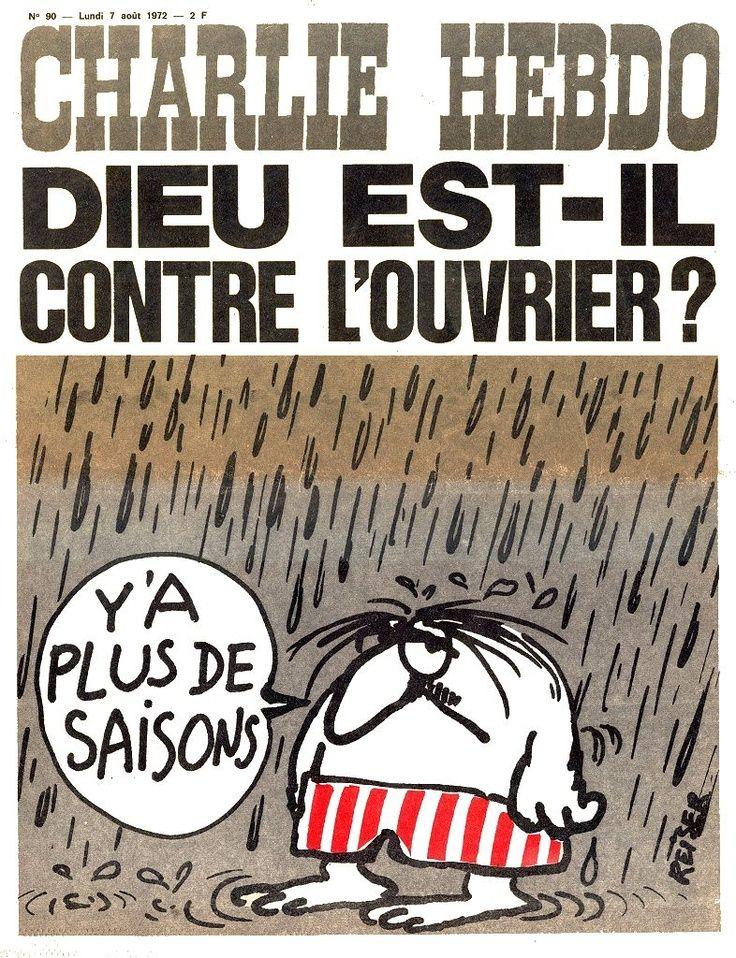 Charlie Hebdo - N° 90 - Lundi 7 Août 1972 - Couverture de Reiser