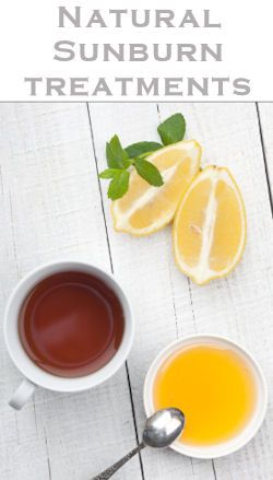 Simple Ingredients Such As Honey, Lemon & Tea Can Help Soothe Skin for Sunburn.