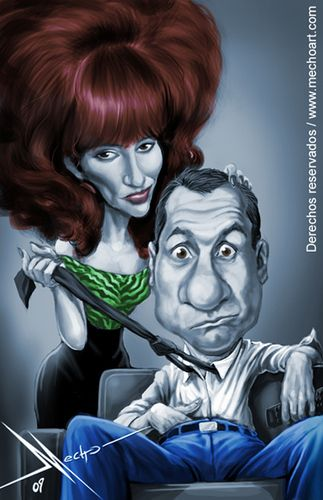 Married with Children caricature WWW.RICARDOSAMUDASINCLAIR.COM