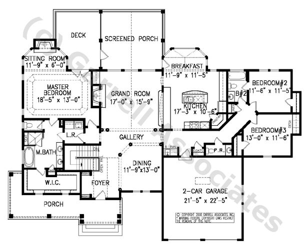 08132 Breckenridge Cottage House Plan 1st Floor Plan