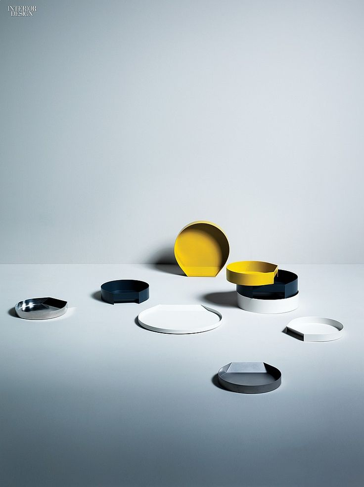 Editors' Picks: 19 Multifaceted Accessories | Eric Degenhardt's Porter trays and bowls in powder-coated steel by Boewer. #design #interiordesign #interiordesignmagazine #accessories