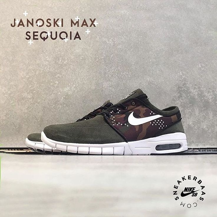 #nike #stefanjanoski #nikesb #sequoia #stefanjanoskimax #sneakerbaas #baasbovenbaas  Nike SB Stefan Janoski Max Sequoia- The Stefan Janoski Max is based on the Nike SB Janoski and comes with a new Free and Air Max sole. This version is a new, bold move from Nike with the camo print on the sidepanels. Sequoia for the win!  Now online available   Priced at 129.95 EU   Men Sizes 37.5- 46 EU