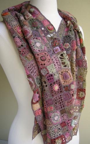 "A gorgeous ""Romano Scarf"" found at the French Needle.  Love it!"