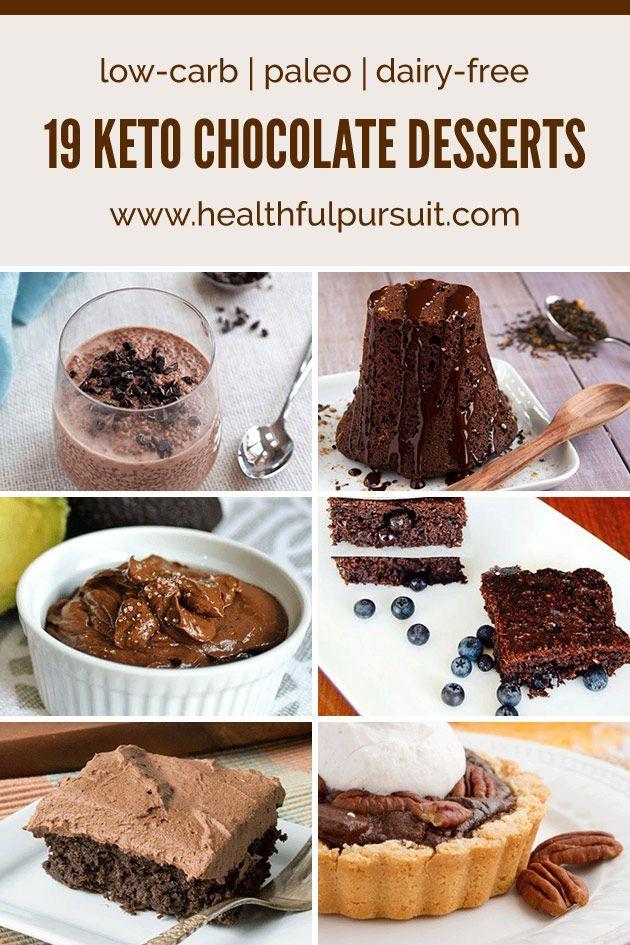 No Sugar! Keto Chocolate Desserts #keto #lowcarb #highfat #paleo #chocolatelovers