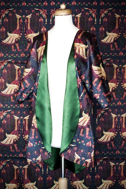 Pernowka and Tomski&Polanski Kimono Cardigan. Designer print fabric.