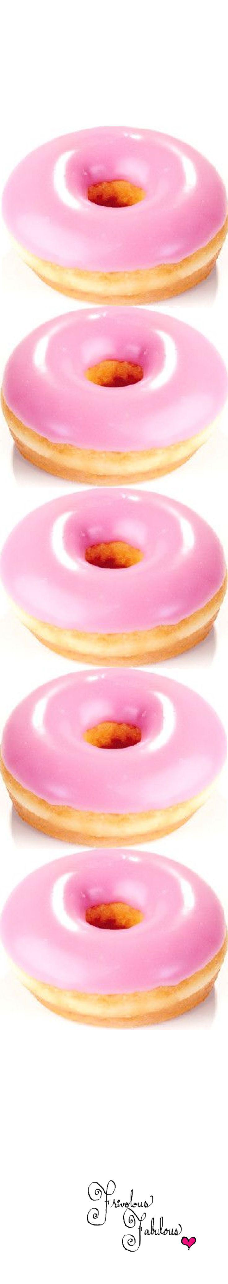 Frivolous Fabulous - Pretty Pink Doughnuts and Pink Hot Chocolate for Everyone! #pink #doughnuts