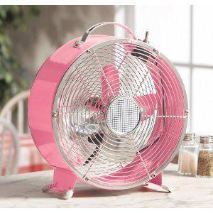Pink retro fan.
