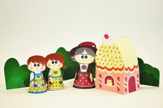 Hanzel and Grethel puppet set